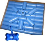 700 Pet Waste Bags, Dog Waste Bags, Bulk Poop Bags on a roll, Clean up poop bag refills - (Color: Blue) + FREE Bone Dispenser, by Pet Supply City LLC