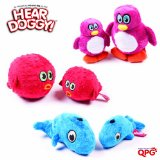 Hear Doggy X3 Set of 3 Dog Toys Blowfish, Whale, Penguin Small Size Ultrasonic Squeak Toys Only Your Dog Can Hear