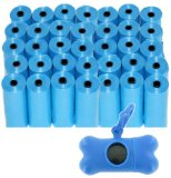 700 Poop Bag Shop Dog Waste Bags, Pet Waste Bags, Durable Premium Bulk Refill Rolls , Blue or Black Color + Bone Dispenser