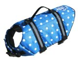 Paws Aboard Polka Dot Doggy Life Jacket Large