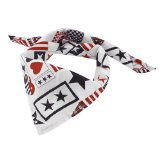 White Black Heart Printed Trinagle Style Bandana for Pet Dog Doggy