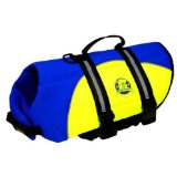 Paws Aboard Neoprene Doggy Life Jacket Extra Small Blue/ Yellow 7 - 15 lbs.