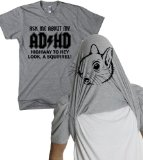 Ask Me About My Adhd T Shirt Funny Flip Shirts 4XL