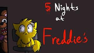 TERRIFIED Kitten Plays: 5 Nights At Freddy's W'Spotty  (Demo)