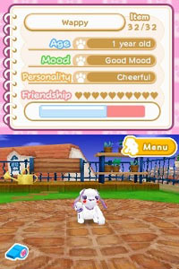 Puppy stat screen from Wappydog