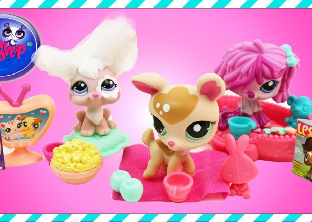 Littlest Pet Shop Playset Unboxing toys lps Cute Puppies Pets toy