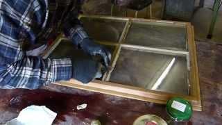 Altes Fenster kitten, Fensterkitt selber herstellen