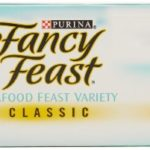 Fancy Feast Classic Seafood Feast Variety Pack 3 flavor ( Cod, Sole and Shrimp, Savory Salmon, Ocean Whitefish & Tuna Feast) 3ounce - Cans In A Box (Pack of 12)